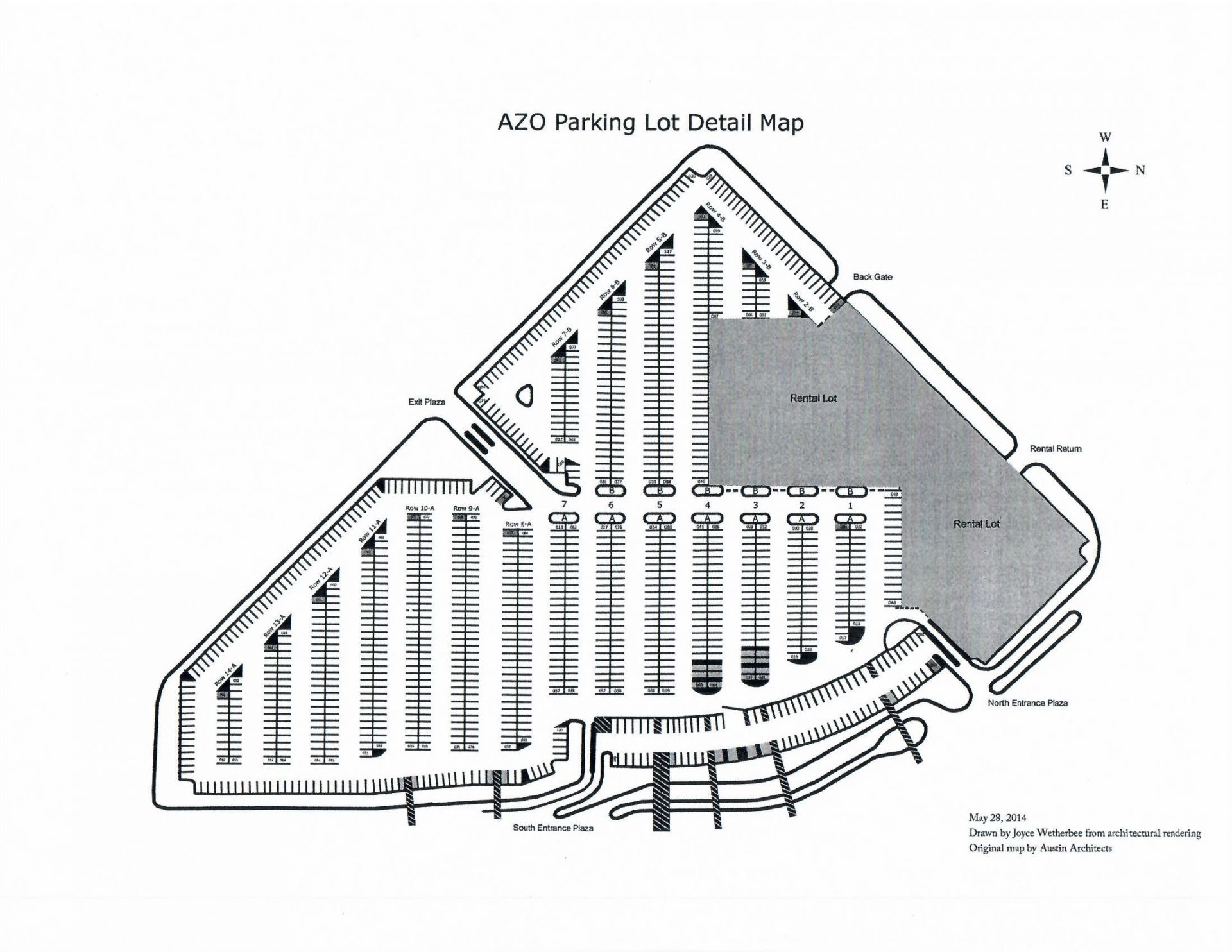 AZO Parking Map